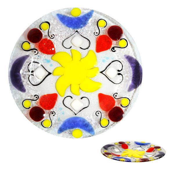 talerz wzory II fusing kolekcja arabika basole