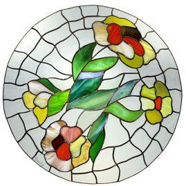 lampa witrażowa kwiaty o poranku tiffany basole