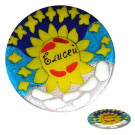 prezent na Chrzciny talerz ze szkła