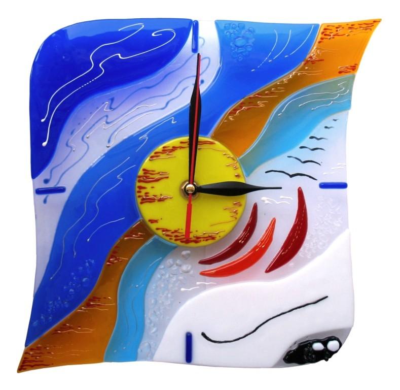 zegar ścienny Kobieta i Morze fusing BasoLe