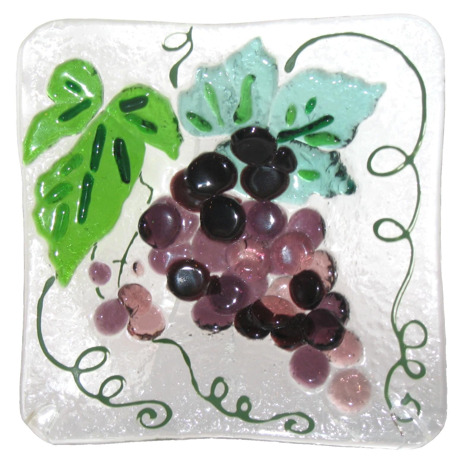 talerzyk Winogrona kolekcja Owoce fusing Basole