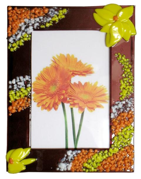 Ramka Pyłek. Kolorowe artystyczne szkło.fusing BasoLe