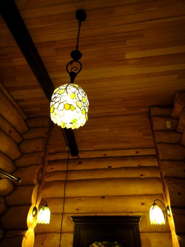 lampa sufitowa brzozy tiffany