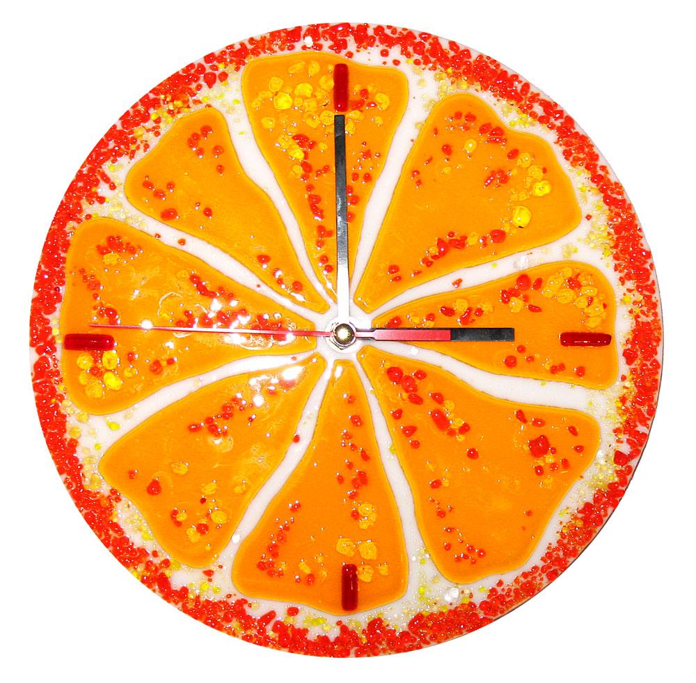 Zegar Pomarańczka kolekcja Owoce fusing BasoLe