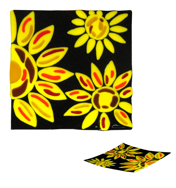 Patera kwadratowa Żółte płatki