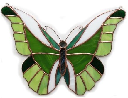 zielony Motyl ażurowy tiffany