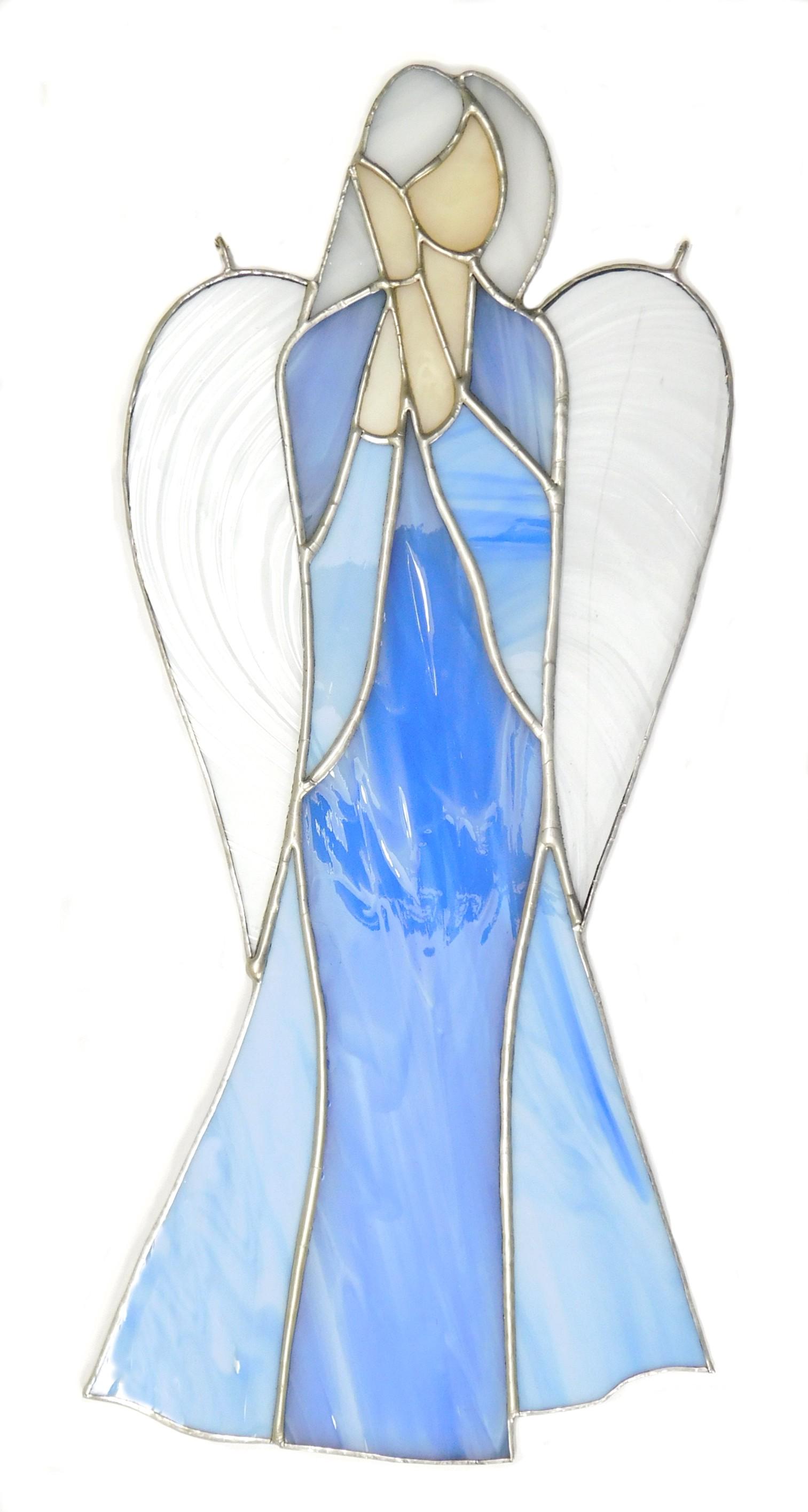 Anioł Czułości witrażowy ze szkła artystycznego, BasoLe