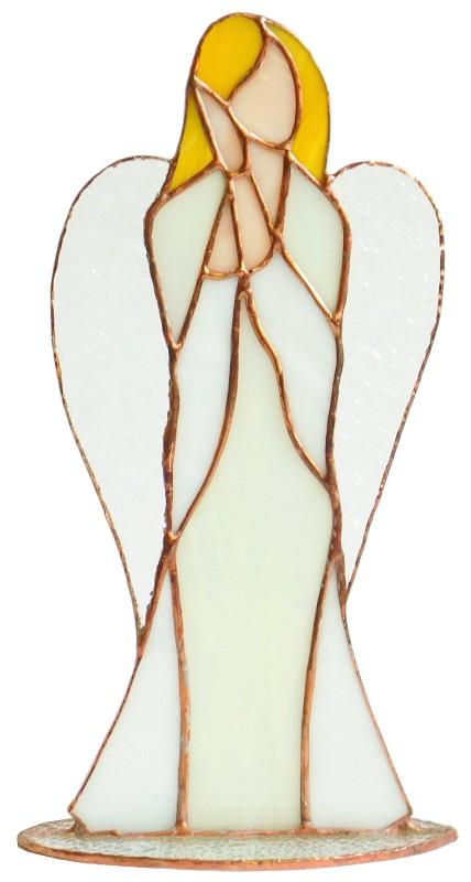 Anioł Miłości stojący ze szkła artystycznego, BasoLe