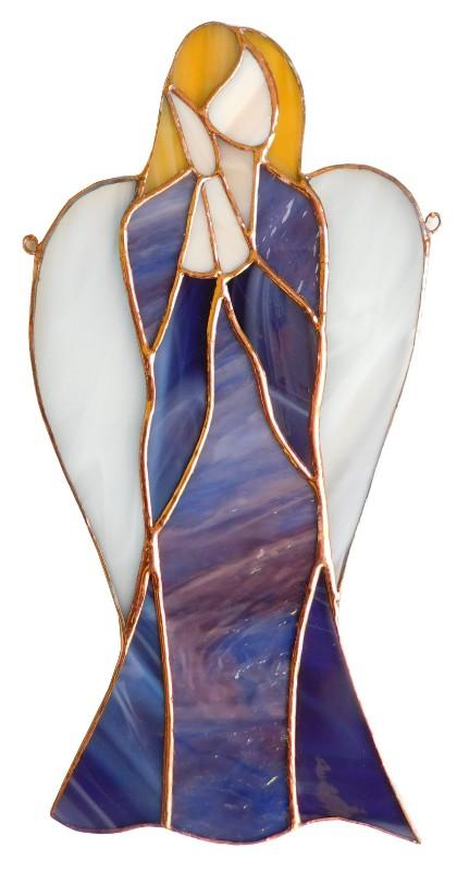 Anioł Wyobraźni wiszący ze szkła artystycznego BasoLe