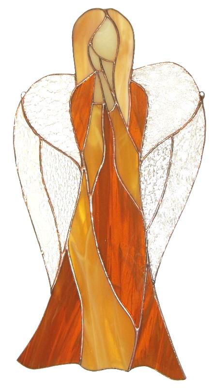 Anioł Mądrości duży ze szkła artystycznego, BasoLe