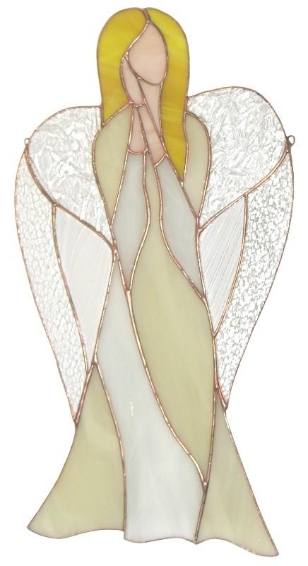 Anioł Miłości duży ze szkła artystycznego, BasoLe