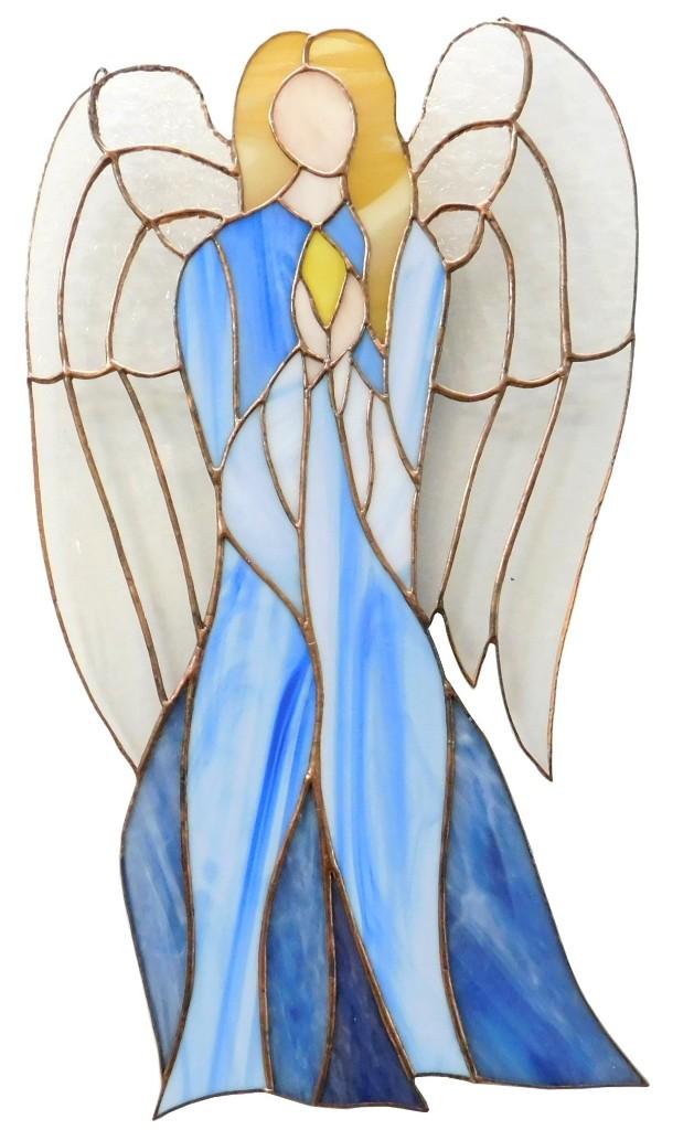 Anioł Nadziei duży ze szkła artystycznego, BasoLe