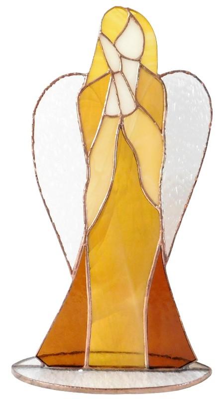 Anioł Mądrości stojący ze szkła artystycznego, BasoLe