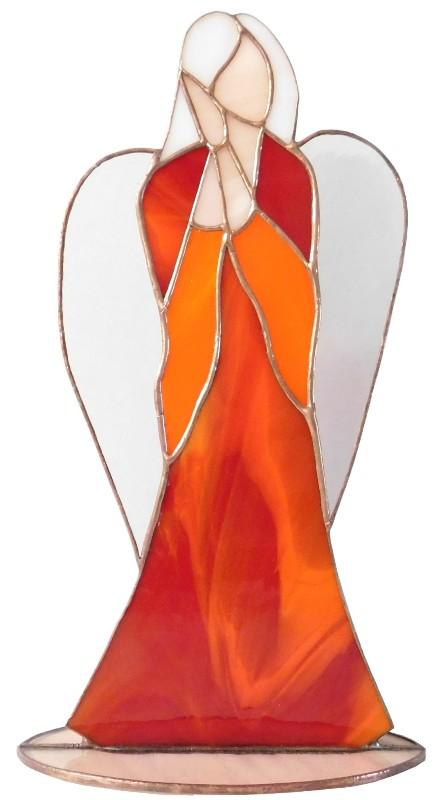 Anioł Serca stojący ze szkła artystycznego, BasoLe