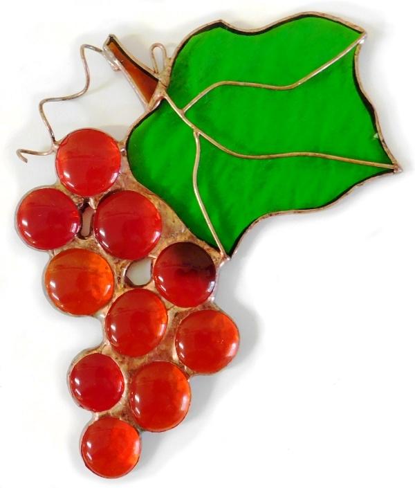 Winogronko czerwone ze szkła artystycznego