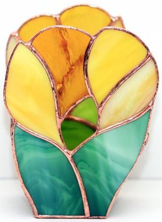 świecznik Krokus. Art Glass BasoLe