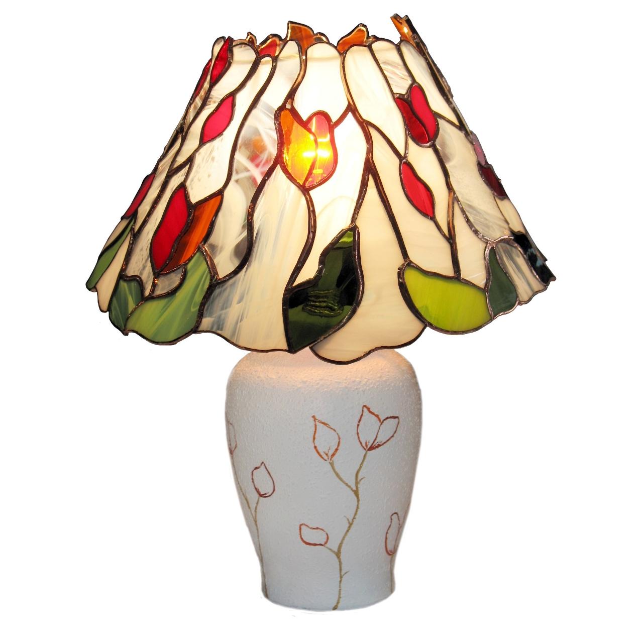 Lampa stołowa Nowe Życie tiffany