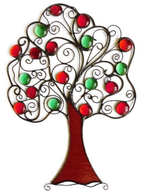 witraż Drzewo szczęścia z jabłuszkami