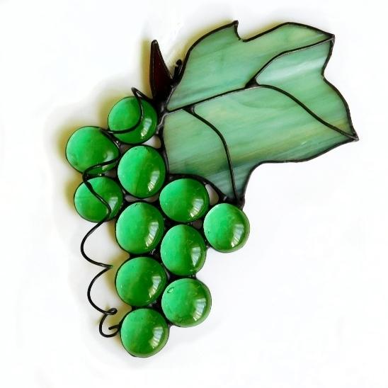 Winogronko zielone. Zawieszki witrażowe. BasoLe