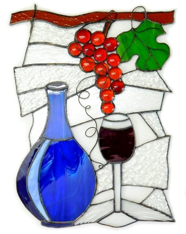 smak wina witraż