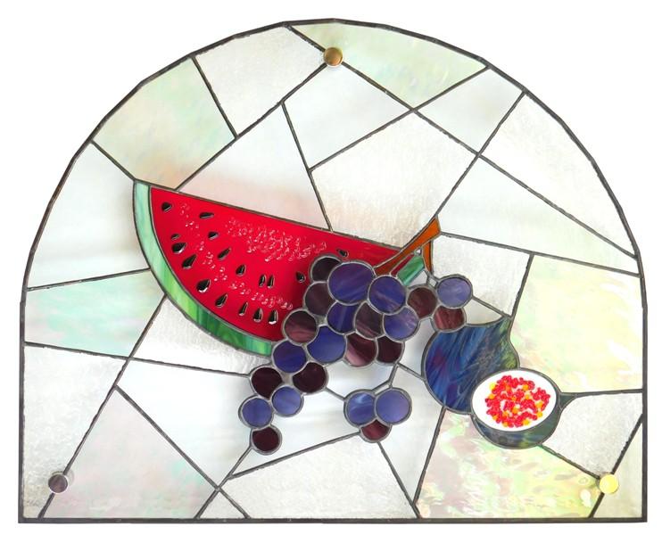 witraż do wnęki arbuz tiffany fusingg