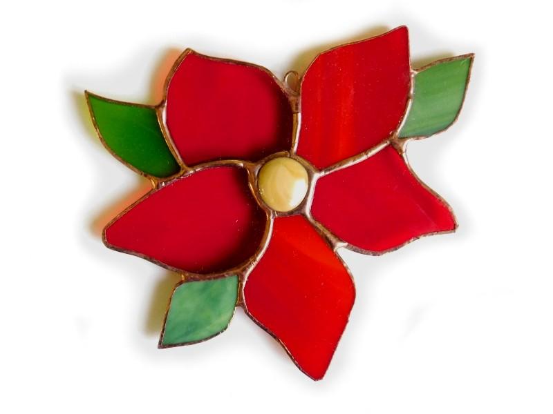 zawieszka Kwiat czerwony basole