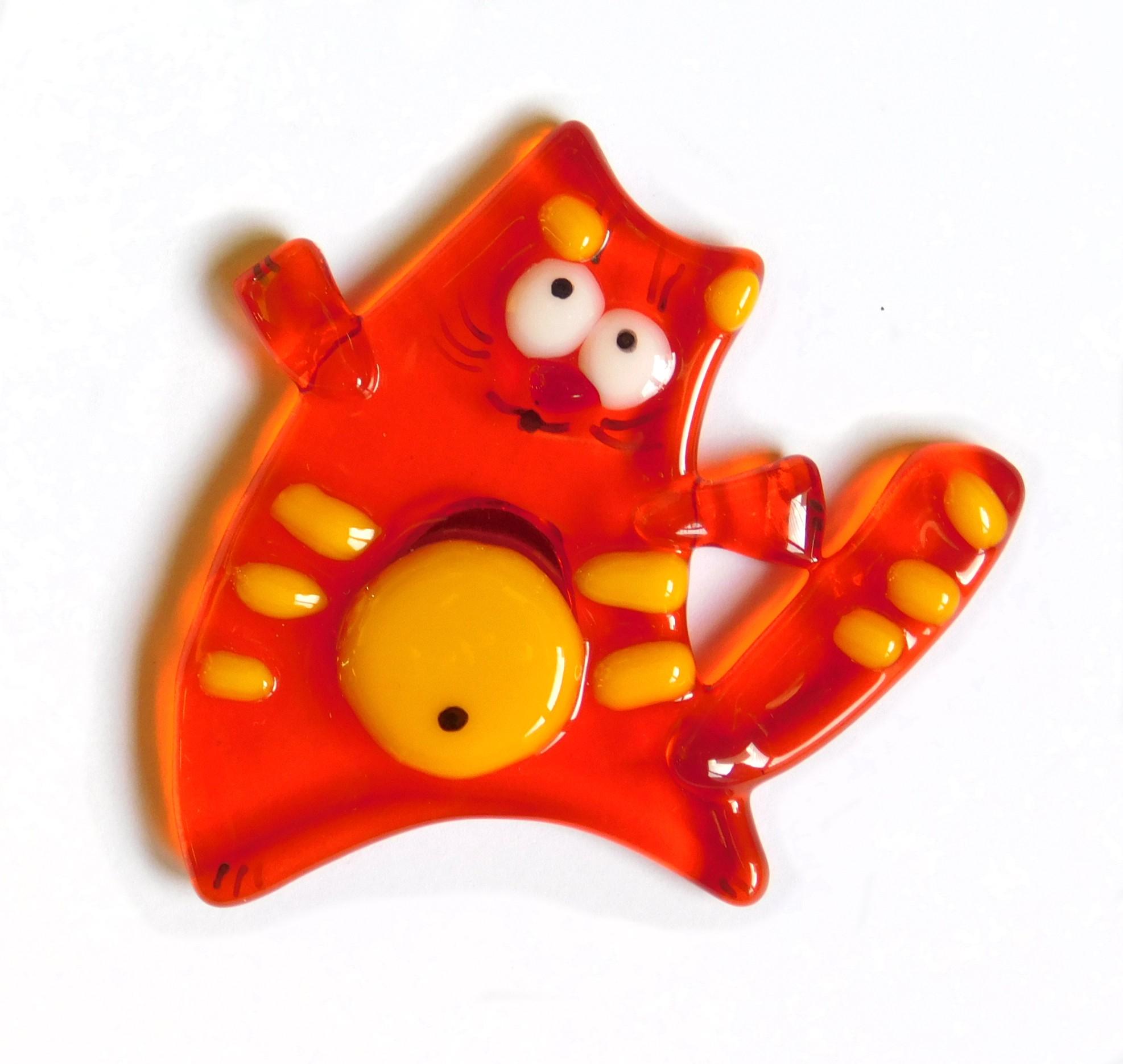 kotek magnes pomarańczowy