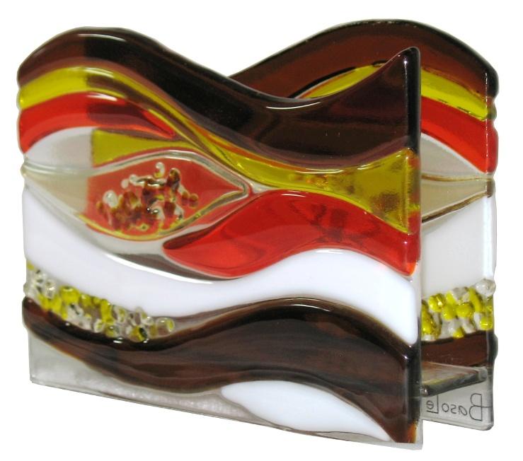 Serwetnik Płynący. Fusing. BasoLe. Art Glass