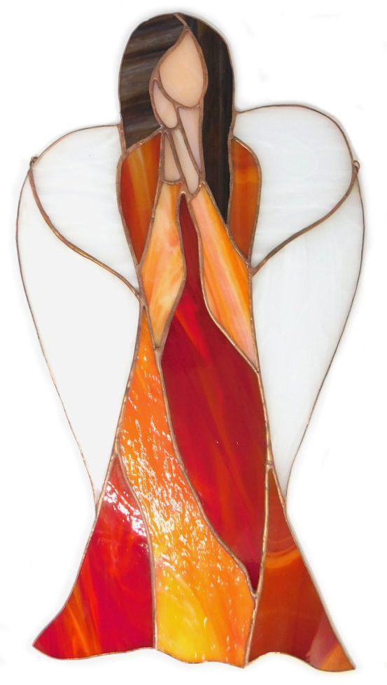 Anioł Gorącego serca ze szkła artystycznego. BasoLe