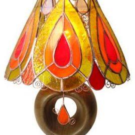 lampa stołowa Kropla ognia