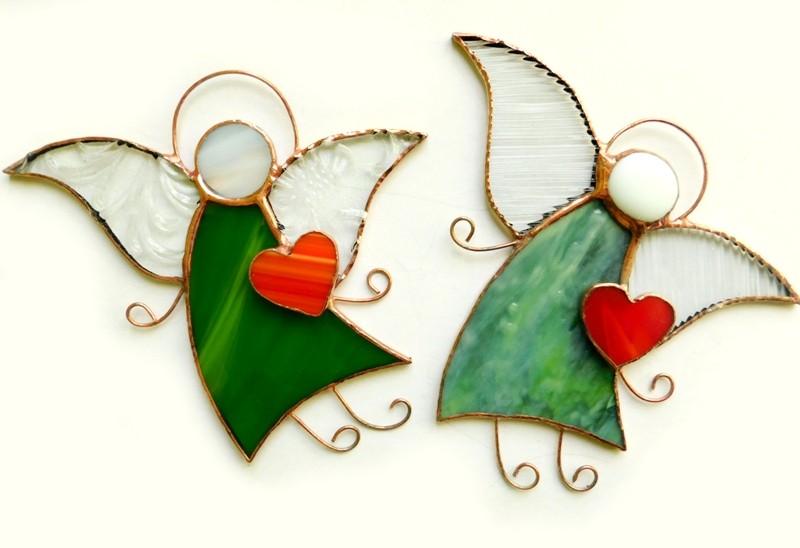 Anioł Serduszko dla Ciebie zielony