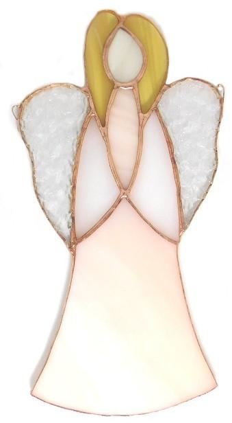 Anioł Ciszy różowy ze szkła artystycznego, Basole